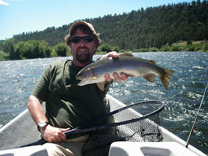Photo: Brian Flechsig and a Madison River rainbow- 2010