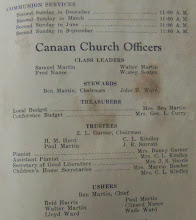 Photo: Canaan History Directory , in the 1941 Time Capsule at Canaan, http://CanaanUMC.net