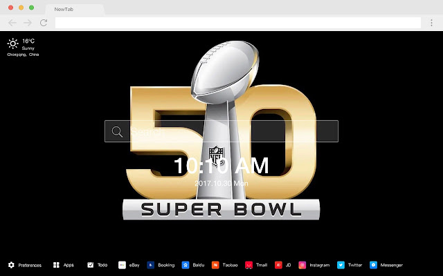 Super Bowl HD Wallpapers New Tab Theme