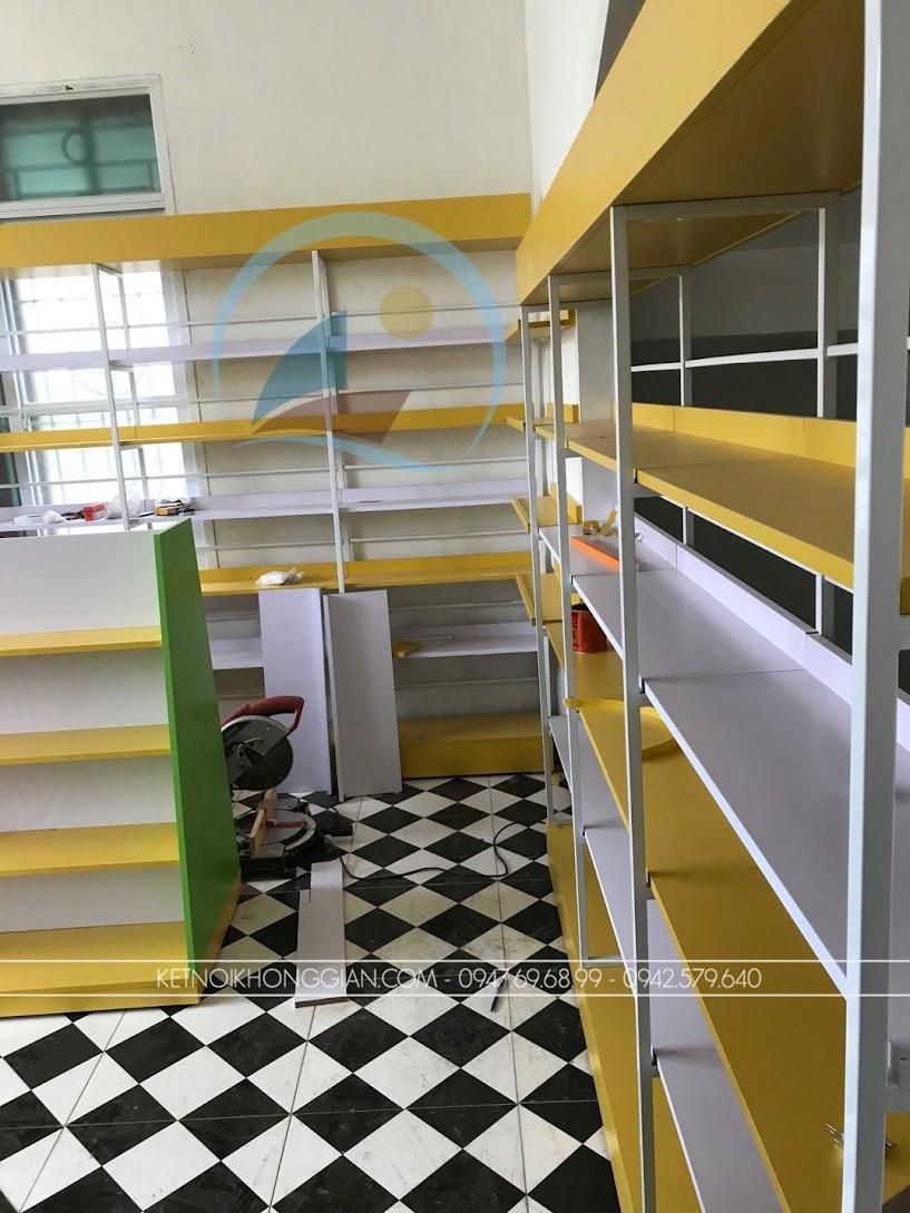 thiết kế và thi công nội thất nhà sách nhỏ