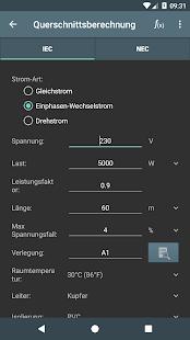 Elektro Berechnungen Screenshot