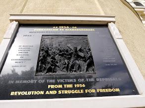 Photo: A 2008-ban készített 1956-os forradalom és szabadságharc áldozatainak elékére.