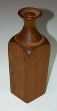 "Photo: David Jacobowitz - mahogany flat and round decanter - 7.5"" x 2.5 """
