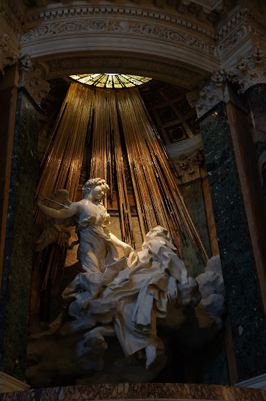 St. Theresa in Ecstasy by Bernini at Santa Maria della Vittoria church