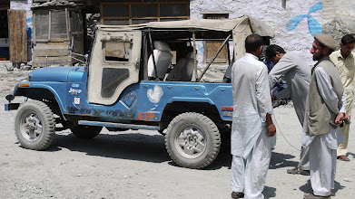 Photo: Raikot bridge overstap jeeps richting Fairy Meadows Nanga Parbat