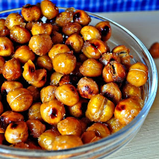 Sweet and Salty Roasted Chickpeas
