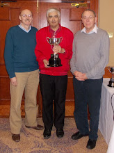 Photo: A Final Winners: Malcolm Lewis and Doug Andrews (with Jeremy Dhondy presenting)
