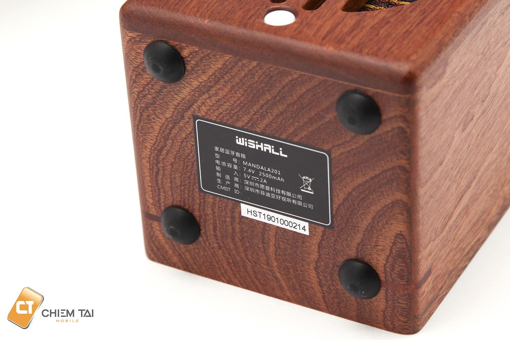 Loa Bluetooth Music Clock Wishall MANDALA201