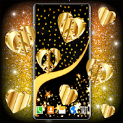 Gold Hearts Live Wallpaper \ud83d\udc9b Golden 4K Wallpapers