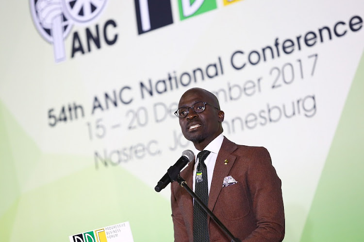 Finance Minister Malusi Gigaba addresses delegates during the Progressive Business Forum breakfast on the sidelines of the 54th ANC Elective National Conference on Saturday. Picture: MASI LOSI