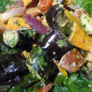 Sweet Tahini Roasted Vegetables.