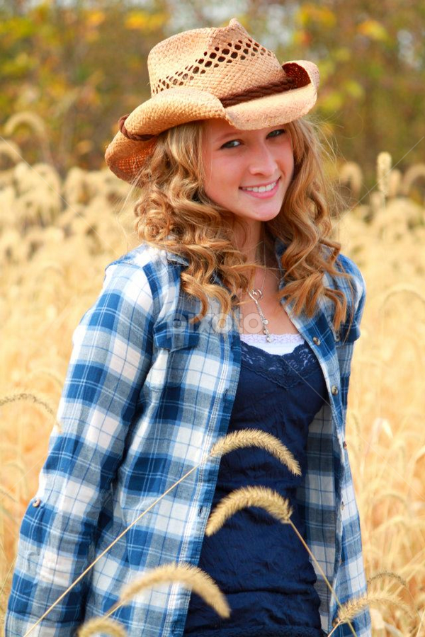 Country Girl by Beth Milam - People High School Seniors ( girl, prairie grass, senior )