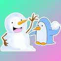 Snowman and Penguin Stickers - WAStickerApps icon