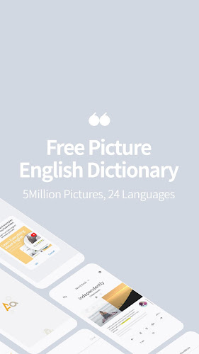 Picture English Dictionary - 24 Languages 5M Pics Android App Screenshot