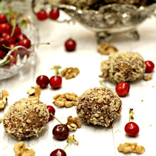 Chocolate Cherry Cookies with Walnuts