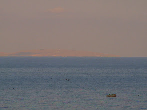 Photo: 6 a.m. I started my 30 km trip along the beach from the vilage of Zolotoe to Kazantip