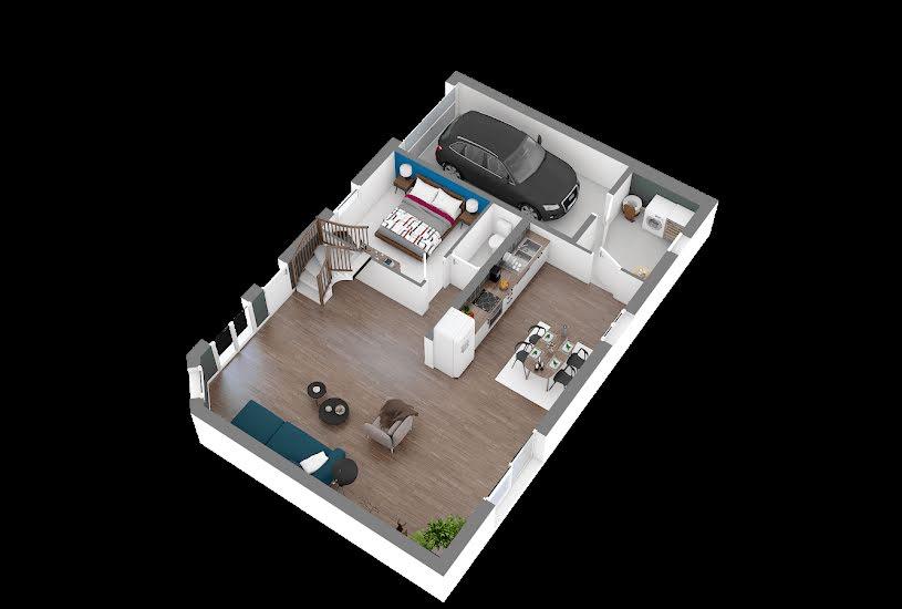 Vente Terrain + Maison - Terrain : 536m² - Maison : 102m² à Yébleron (76640)