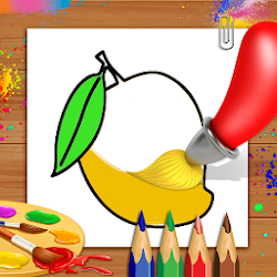 Fruits Coloring Book & Drawing Book - Kids Game