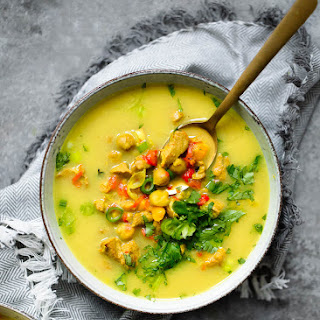Golden Turmeric Chickpea Chicken Soup Recipe