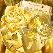 Download App Golden Rose Launcher Theme