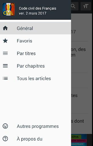 Code civil 2019 (France) 0.38 screenshots 2