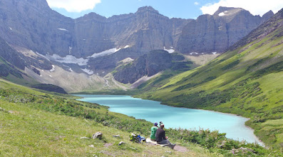 Photo: Our first look at Cracker Lake - We encountered 10-15 people during the 13-mile hike.