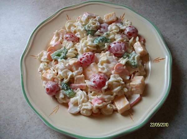 Pasta & Imitation Crab Salad Recipe