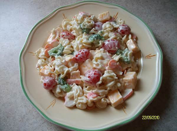 Pasta & Imitation Crab Salad Recipe