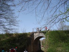 Photo: draisines sur l'ancienne voie ferrée