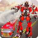 Robot Transformation Fire Truck: Real Robot Wars icon