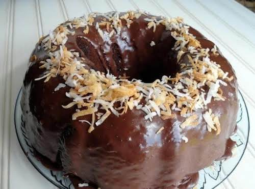 """Click Here for Recipe: Chocolate Coconut Bundt Cake """"I made this for..."""