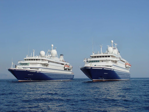 SeadreamI-SeadreamII.jpg - Sister luxury ships SeaDream I and SeaDream II are nearly identical, with both carrying just 110 passengers.