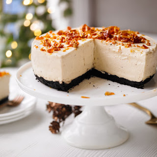 Baileys Cheesecake With Chocolate Base & Almond Brittle