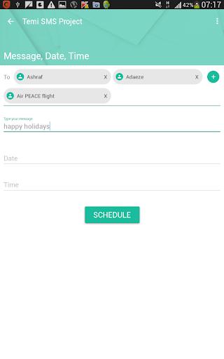 Birthdays Events SMS Scheduler