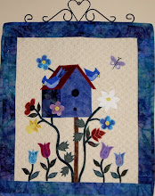 Photo: An original design by Trisha, one of a pair made to hang on the wall to compliment my Birds of a Feather Quilt.