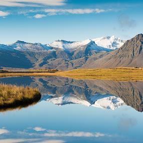 Reflection 2 by Boštjan Rakovec - Landscapes Mountains & Hills ( water, hills, mountains, reflection, iceland,  )