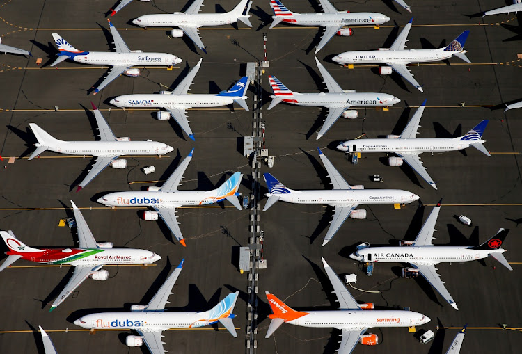 Grounded Boeing 737 MAX aircraft at Boeing Field in Seattle, Washington, the US. Picture: REUTERS/LINDSEY WASSON