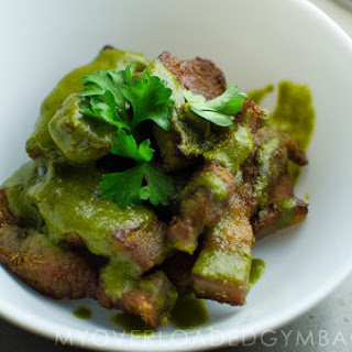 Pork Belly with Chimichurri Sauce