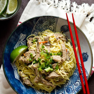 Pork And Mushroom Stir Fry (with Chow Mein Noodles).