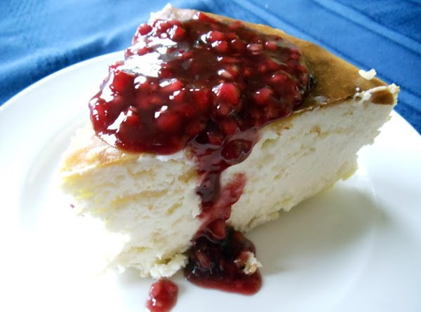 Refrigerate sauce until ready to serve. Cut cake and spoon sauce over each slice...