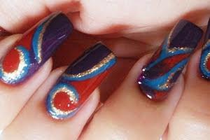 nail-art-soffiodidea-astrattismi-autunnali-pupamilano