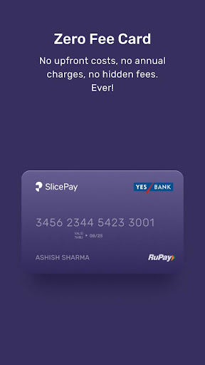 SlicePay: No Cost EMIs, RuPay Card, Pay later - screenshot