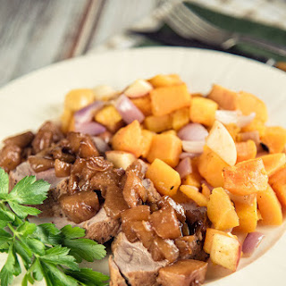 Pork Tenderloin With Pears And Roasted Butternut Squash