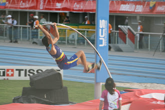 Photo: The progression of a pole vault: Airborne