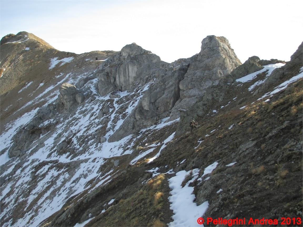 Photo: IMG_4387 un po di neve ci fa procedere con circospezione