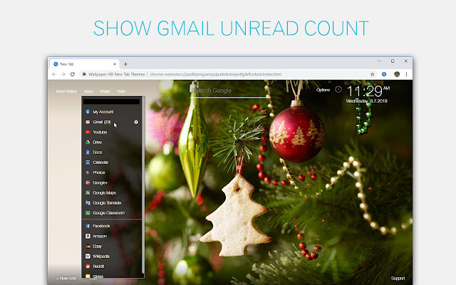 Christmas Count Down.Christmas Countdown Wallpapers Custom New Tab