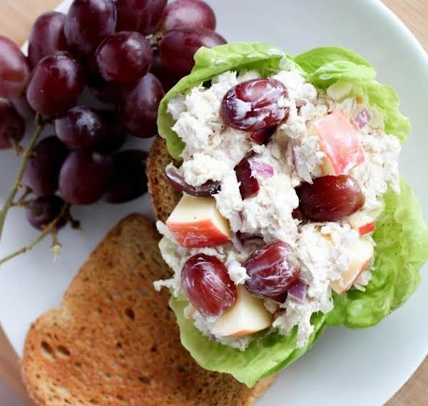 Highprotein Chicken Salad Recipe Just A Pinch Recipes