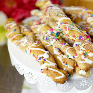 Cake Batter Cinnamon Twists.