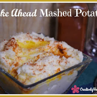 Holiday Make Ahead Mashed Potatoes.