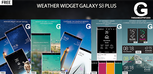 galaxy s8 weather widget pro apk